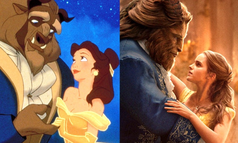 Beauty and the beast, original and recent