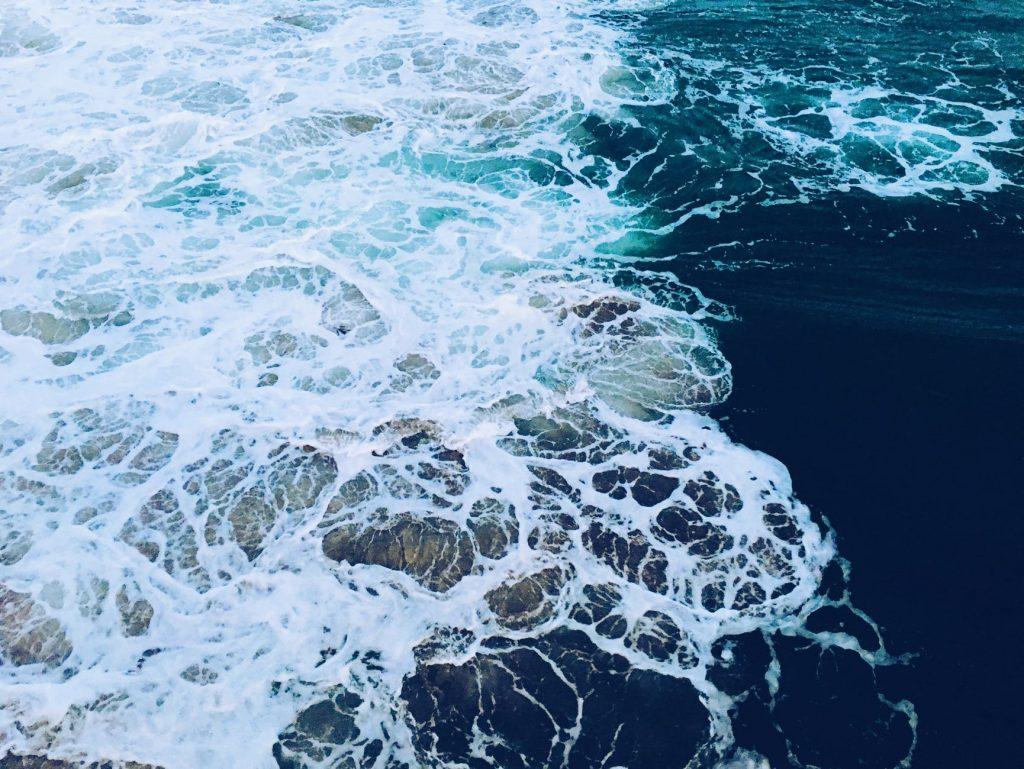 close up of sea foam